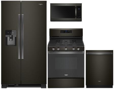 Whirlpool  1115576 Kitchen Appliance Package Black Stainless Steel, main image