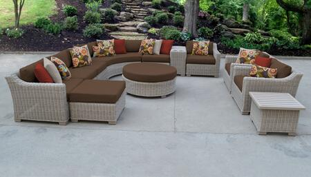 TK Classics COAST12ACOCOA Outdoor Patio Set, COAST 12a COCOA