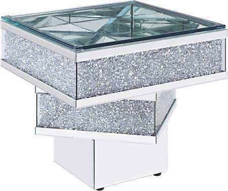Acme Furniture Noralie 81467 End Table Silver, 81467