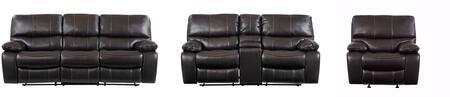 Global Furniture USA U0040 U0040ESPRESSORSCRLSGR Living Room Set Brown, Main Image