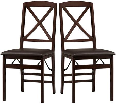 Linon Triena 01826ESP02ASU Dining Room Chair Espresso, Set of Two