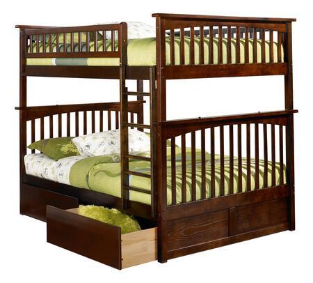 Atlantic Furniture Columbia AB55544 Bed Brown, AB55544 SILO BD2 30