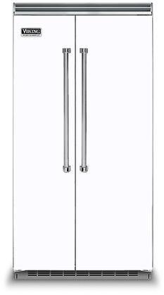 Viking 5 Series VCSB5423WH Side-By-Side Refrigerator White, In White