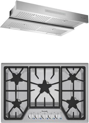 2 Piece Kitchen Appliances Package with SGS305FS 30″ Gas Cooktop and HMDW30WS 30″ Under Cabinet Insert Hood in Stainless