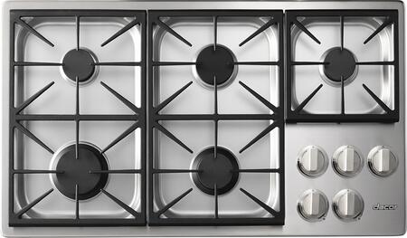 """Dacor Heritage HPCT365GSNGH Gas Cooktop Stainless Steel, HPCT365GSNGH 36"""" Heritage Series Professional High Altitude Natural Gas Cooktop"""