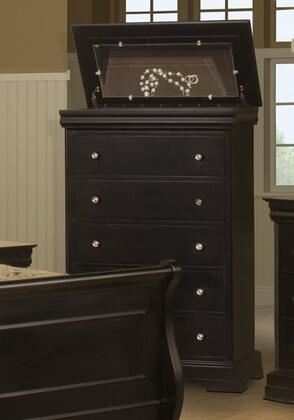 Belle Rose BH013-070 Lift Top Chest in Black Cherry
