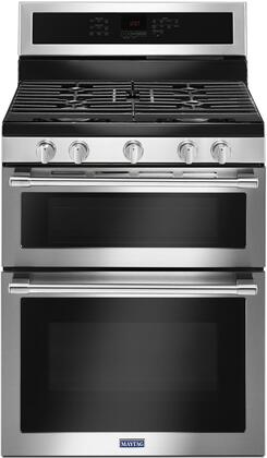 MGT8800FZ 30 Gas Range with Double Oven  6 cu. ft. Total Capacity  True Convection  Griddle  Self-Cleaning  in Fingerprint Resistant Stainless