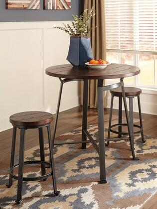 Signature Design by Ashley Challiman D30713124(2) Dining Room Set Brown, 1