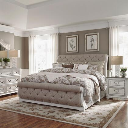 Liberty Furniture Magnolia Manor 244BRKUSLDMN Bedroom Set White, 244 br qusldmn