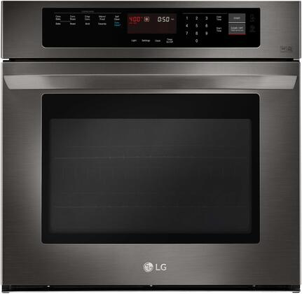 LG  LWS3063BD Single Wall Oven Black Stainless Steel, Main Image