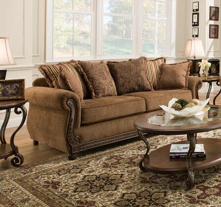 Lane Furniture Outback 811503OUTBACKCHOCOLATE Stationary Sofa Brown, Sofa
