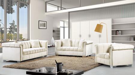 Meridian Kayla 739475 Living Room Set Beige, 615CreamSet