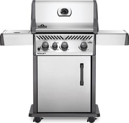 RXT425SIBNSS-1 51″ Rogue Series XT 425 SIB Natural Gas Freestanding Grill with 51000 BTU  665 sq. in. Cooking Area  Infrared Side Burner and Cast