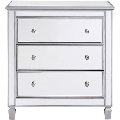 MF6-1019S 3 Drawer Bedside Cabinet 33″X 18″X 32″ In Silver