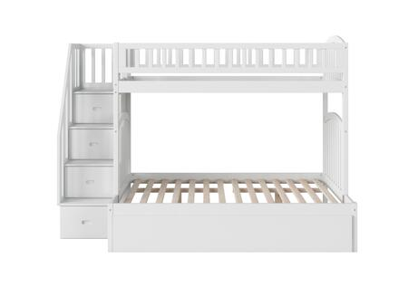 Atlantic Furniture Westbrook AB65752 Bed White, AB65752 SILO SK TR1 180