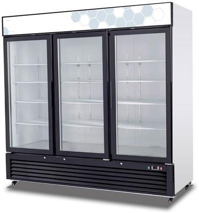 Migali Competitor C72RMHC Display and Merchandising Refrigerator Black, Main Image