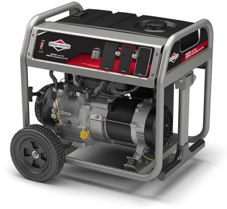 030681 Portable Generator with 5000 Watts  6250 Starting Wats  12.5 Hour Run Time  342 Engine CC  10″ Never Go Flat Wheels  CARB