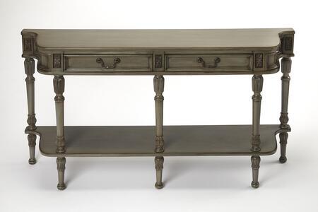 Merrion Collection 0872148 Console Table with Traditional Style  Rectangular Shape  Medium Density Fiberboard (MDF) and Cherry Veneer Material in