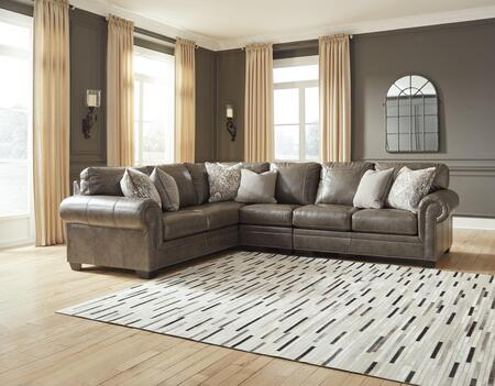 Signature Design by Ashley Roleson 587033PSEC Sectional Sofa Brown, 1