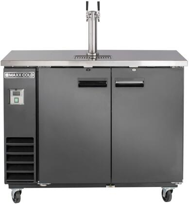 MXBD48-1B 48″ X-Series Keg Cooler with 10.5 cu. ft. Capacity  Single Tower  4″ Casters and Self-Contained Forced Air Refrigeration System in
