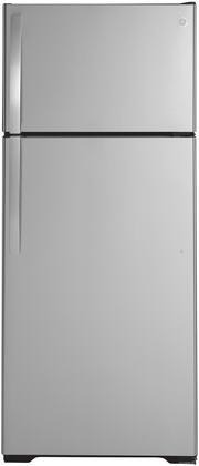GE  GTS18HSNRSS Top Freezer Refrigerator , GTS18HSNRSS Front View