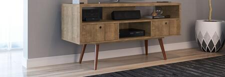 Ideaz International Jensen 23104PD 52 in. and Up TV Stand Brown, Main View