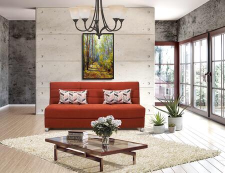 Casamode Rainbow RAINBOWSOFABEDORANGE Sofa Bed Orange, Main Image