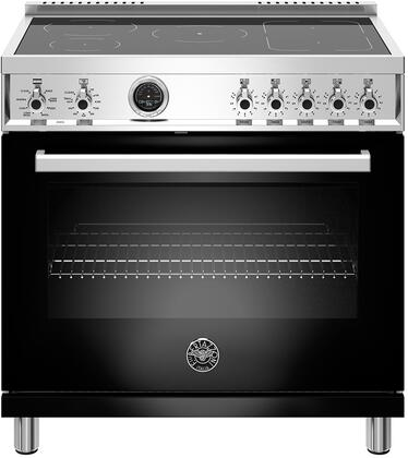 Bertazzoni Professional PROF365INSNET Freestanding Electric Range Black, PROF365INSXT   PROFESSIONAL SERIES INDUCTION RANGE 36""