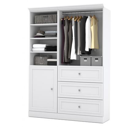 Bestar Furniture Versatile 4087317 Wardrobe White, Main View