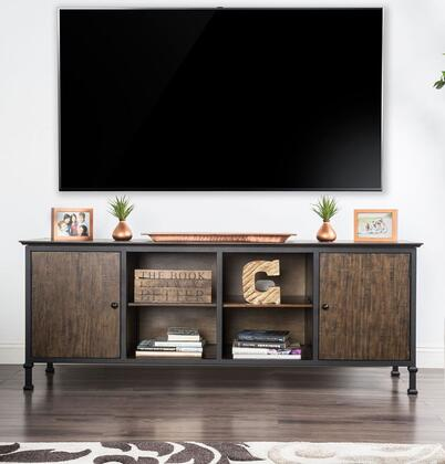 Furniture of America Broadland CM5822TV72 52 in. and Up TV Stand Brown, Main Image