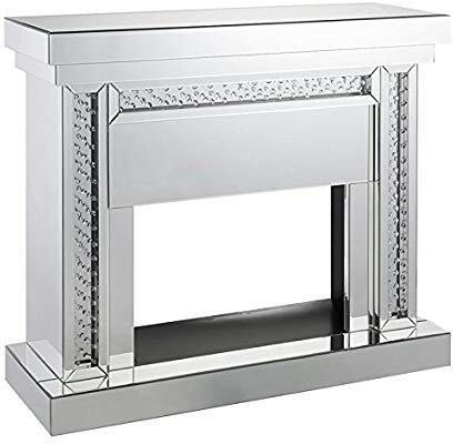 Acme Furniture Nysa 90272 Fireplace Silver, Fireplace