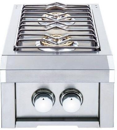 HTSB2-NG 15″ Natural Gas Double Side Burner with 24000 BTU in Stainless