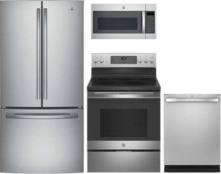 GE  1333026 Kitchen Appliance Package Stainless Steel, Main image