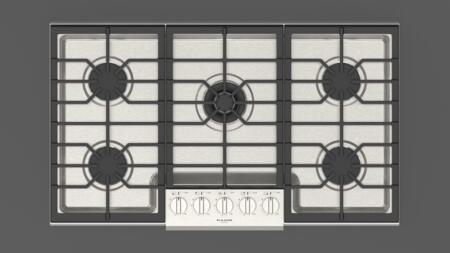 F4PGK365S1 36″ Sofia Professional Gas Cooktop with 5 Sealed Aluminum Burners  Continuous Heavy Duty Grates  in Stainless