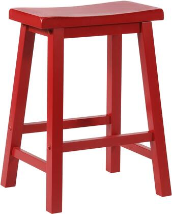 Powell Color Story 286430 Bar Stool Red, Main Image