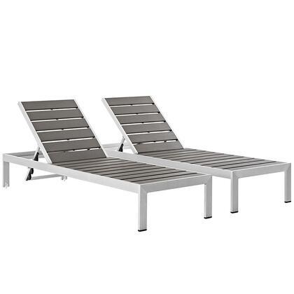 Modway Shore EEI2467SLVGRYSET Lounge Chair Gray, Main Image