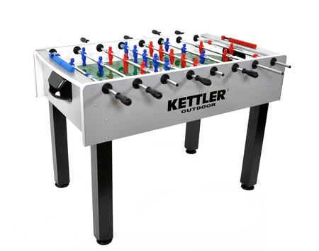 Carbon 7099-000 Indoor/Outdoor Foosball Table with Side and Corner Rails  Unbreakable Players Molded to Rods and Nylon