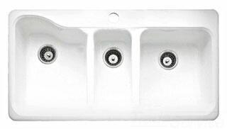 American Standard 7183.001.345 Bisque 3-Bowl Kitchen Sink ...