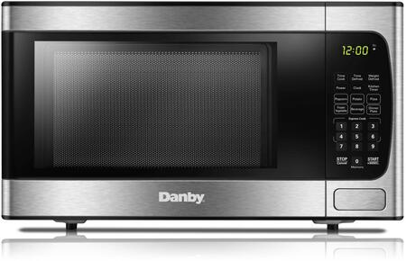 Danby DBMW0924BBS 20 Stainless Steel Countertop Microwave with 0.9 cu. ft. Capacity  900 Cooking Watts  10 Power Levels and Child