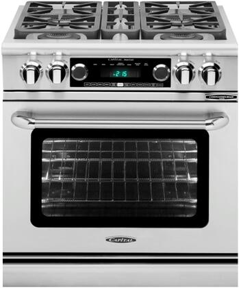 Capital Connoisseurian CSB304L Freestanding Dual Fuel Range Stainless Steel, Main Image