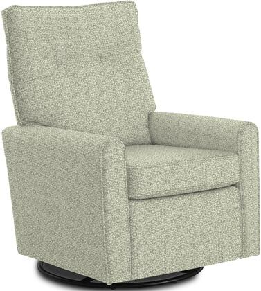 Phylicia Collection 4007-23043 Recliner with 360-Degrees Swivel Glider Metal Base  Removable Back  High Backrest  Zipper Access and Fabric Upholstery