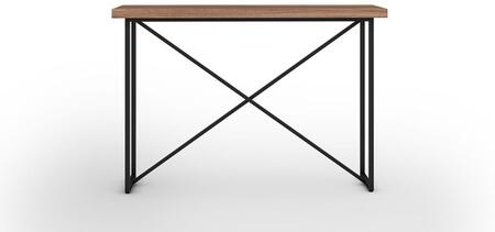 Signature Home Collection FT48ICTW X Console Table with Textured  Powder Coated Metal Frame  Thick MDF Top and Easy Assembly in