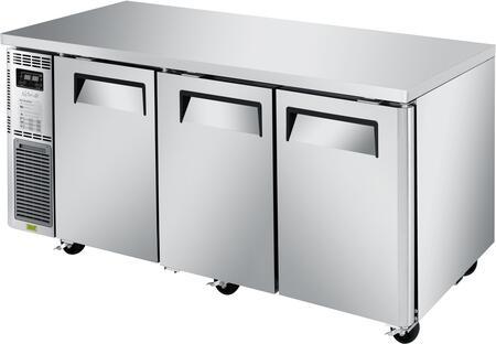 Turbo Air J Series JURF72N Undercounter and Worktop Refrigerator Stainless Steel, JURF72N Angled View