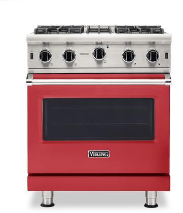 Viking 5 Series VGIC53024BSM Freestanding Gas Range Red, VGIC53024BSM Gas Range