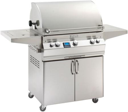 Fire Magic Aurora A660S6E1P62 Liquid Propane Grill Stainless Steel, Main Image with Side Burner