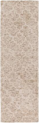 Falcon FLC-8001 4' x 6' Rectangle Modern Rug in Ivory