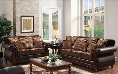 Furniture of America Franklin SM6106NSL Living Room Set Brown, main image