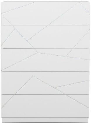 Global Furniture USA Pandora PANDORACHEST Chest of Drawer White, Main Image