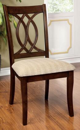 Furniture of America Carlisle CM3778SC2PK Dining Room Chair Brown, Main Image