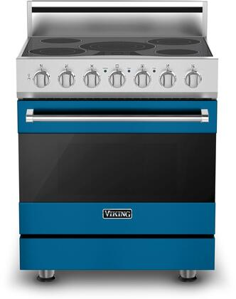 Viking 3 Series RVER33015BAB Freestanding Electric Range Blue, RVER33015BAB Alluvial Blue Electric Range